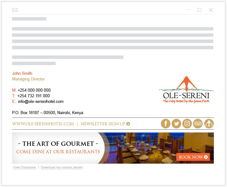 Ole Sereni Hotel - email marketing
